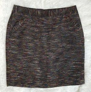 Ann Taylor LOFT Colorful Boucle Skirt